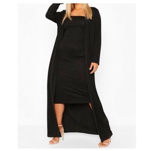 Black Bandeau Dress and Duster Co-ord